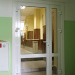 Алюминиевая дверь 150x150 - Двери