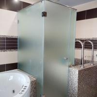dushevaya matovoe steklo 200x200 - Стеклянные душевые кабины