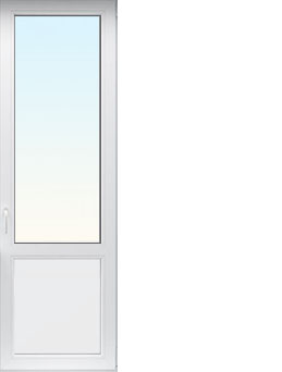 Однопольная дверь с размерами 900х2100 мм