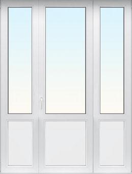 Трехпольная дверь с размерами 1900х2100 мм